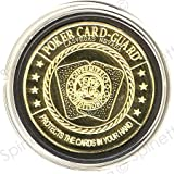Bullets Pair of Aces Gold Poker Card Guard