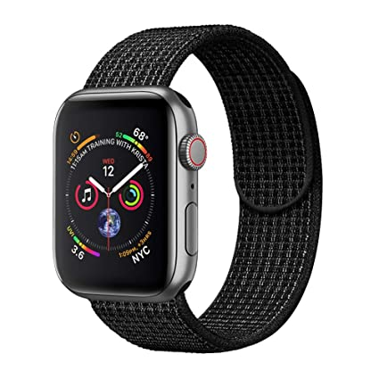 5d2dbc685 amBand Compatible for Apple Watch Sport Loop Band 38mm 40mm 42mm 44mm,  Lightweight Breathable Nylon Replacement Band for Apple Watch Series 1,  Series 2, ...