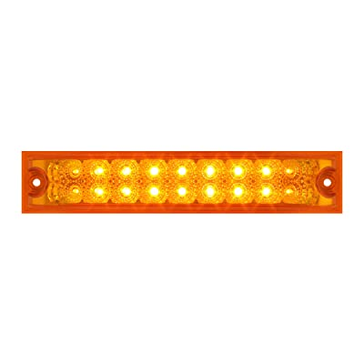 "GG Grand General 76480 Amber/Amber Light Bar (10"" Spyder 18-LED, Lens Double Row): Automotive"