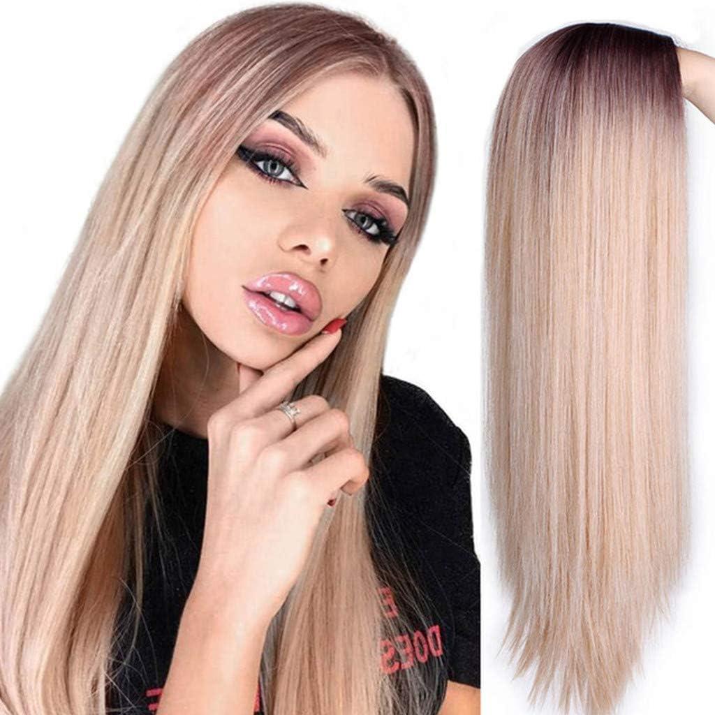 Pelucas para mujeres bonitas pelucas largas y onduladas ...