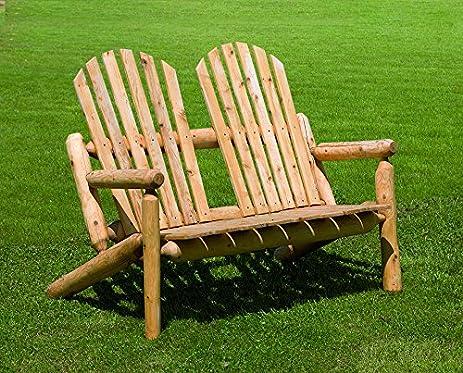 White Cedar Outdoor Park Bench *Light Cedar Stain*