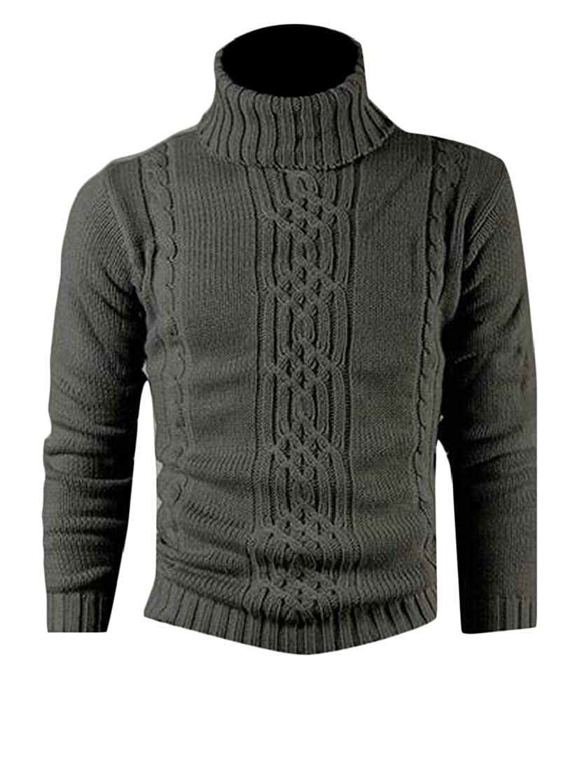 MMCP Men Fall Winter Turtle Neck Thermal Knit Long Sleeve Pullover Sweaters