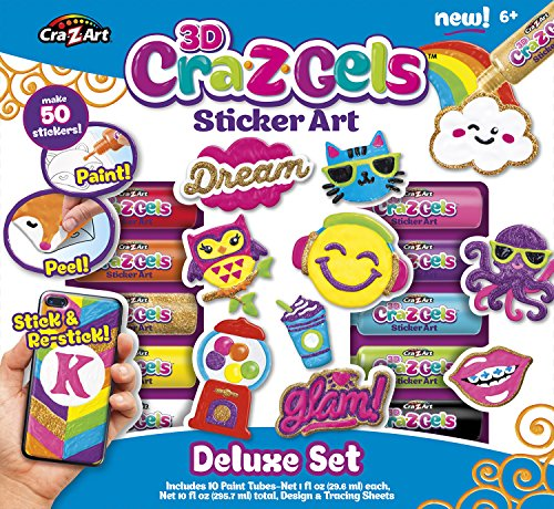Cra-Z-Art CRA-Z-Gels Deluxe Set DIY Sticker Kit