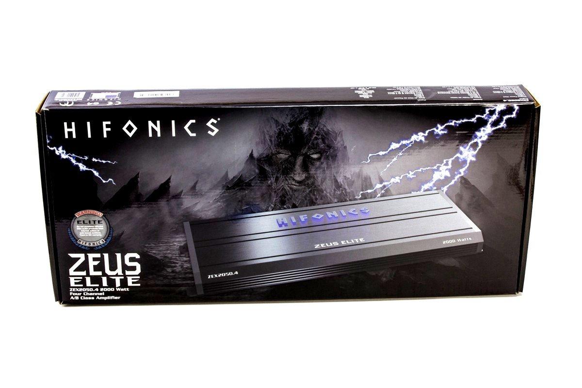 Hifonics Zeus Elite zex2050.4 4 Canal Amplificador 2000 Watts Clase A/B Gama Completa Amplificador de Audio Zeus Elite 2000 W: Amazon.es: Electrónica