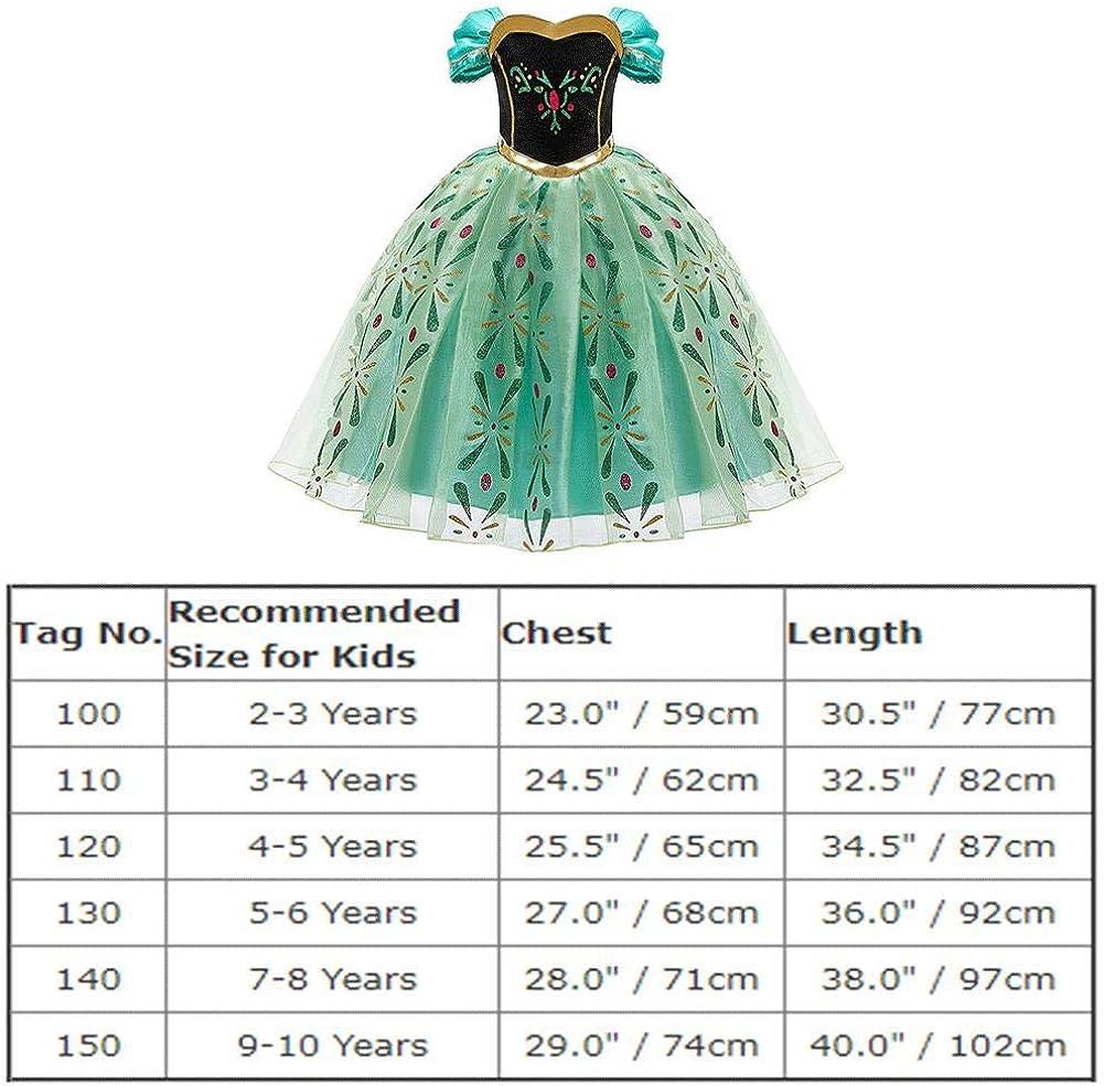 2 congelato Elsa Costume Da Principessa Ragazza Regina della Neve Festa Cosplay Fancy Dress Up Abito