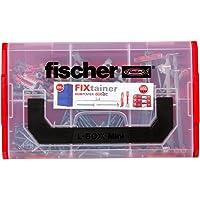 Fischer 534076 FIXtainer – de vastmakerbox, pluggen, spreidpluggen SX, gipskartondpluggen metaal GKM, Fast & Fix, 212…