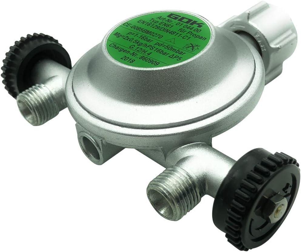 GOK - Regulador de gas con 2 salidas