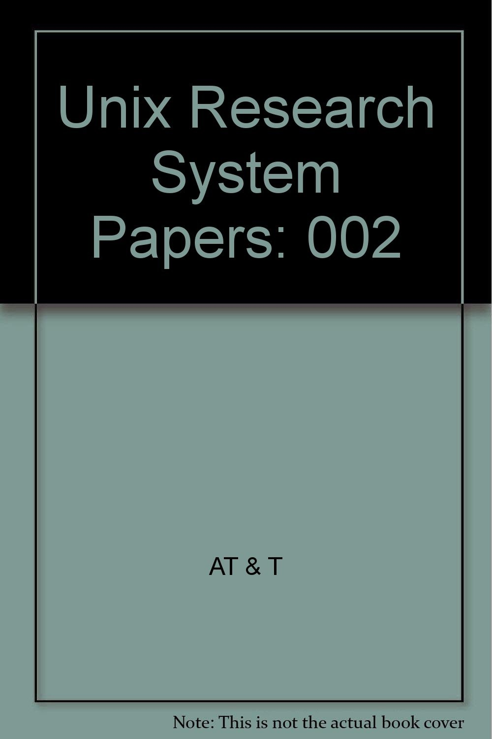Unix Research System Papers: 0...