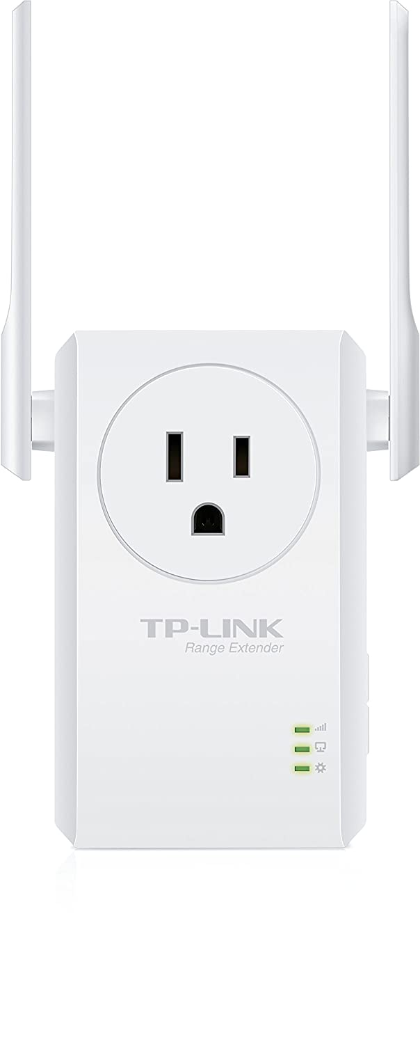 TP-Link N300 Wi-Fi Range Extender with Pass-Through Outlet TL-WA860RE