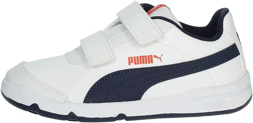 Zapatillas Niño/a Puma Stepfleex 2 SL VE Blanco/Marino 192522-07: Amazon.es: Zapatos y complementos