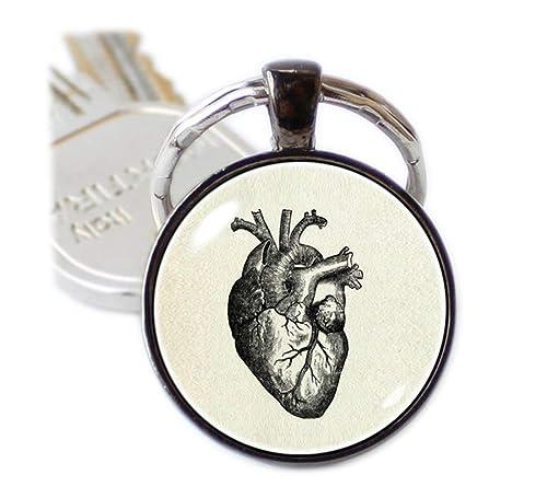 Beautiful Dandelion Llavero de corazón humano con diseño de ...