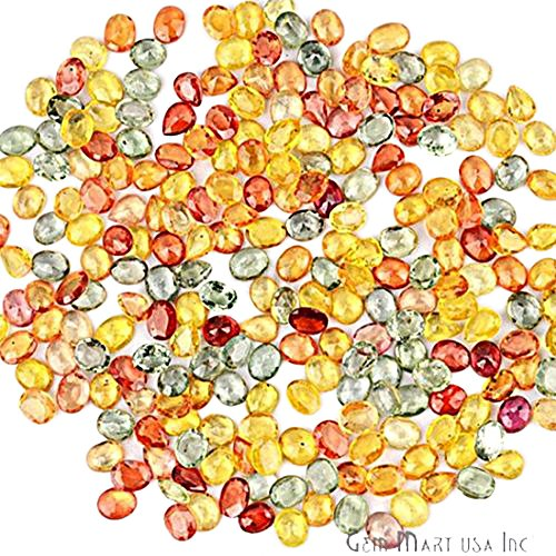 Price comparison product image 5 Carat Lot Of AAA Quality Natural Multi Sapphire Gemstone 5x4mm Oval & Pears Shape Faceted Mix Lot Loose Gemstone (MS-60016)