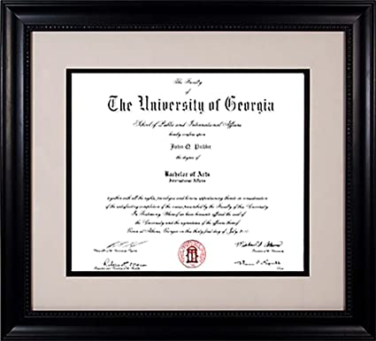 Amazon.com - Athens Art and Frame Classic Grey UGA Diploma Frame ...