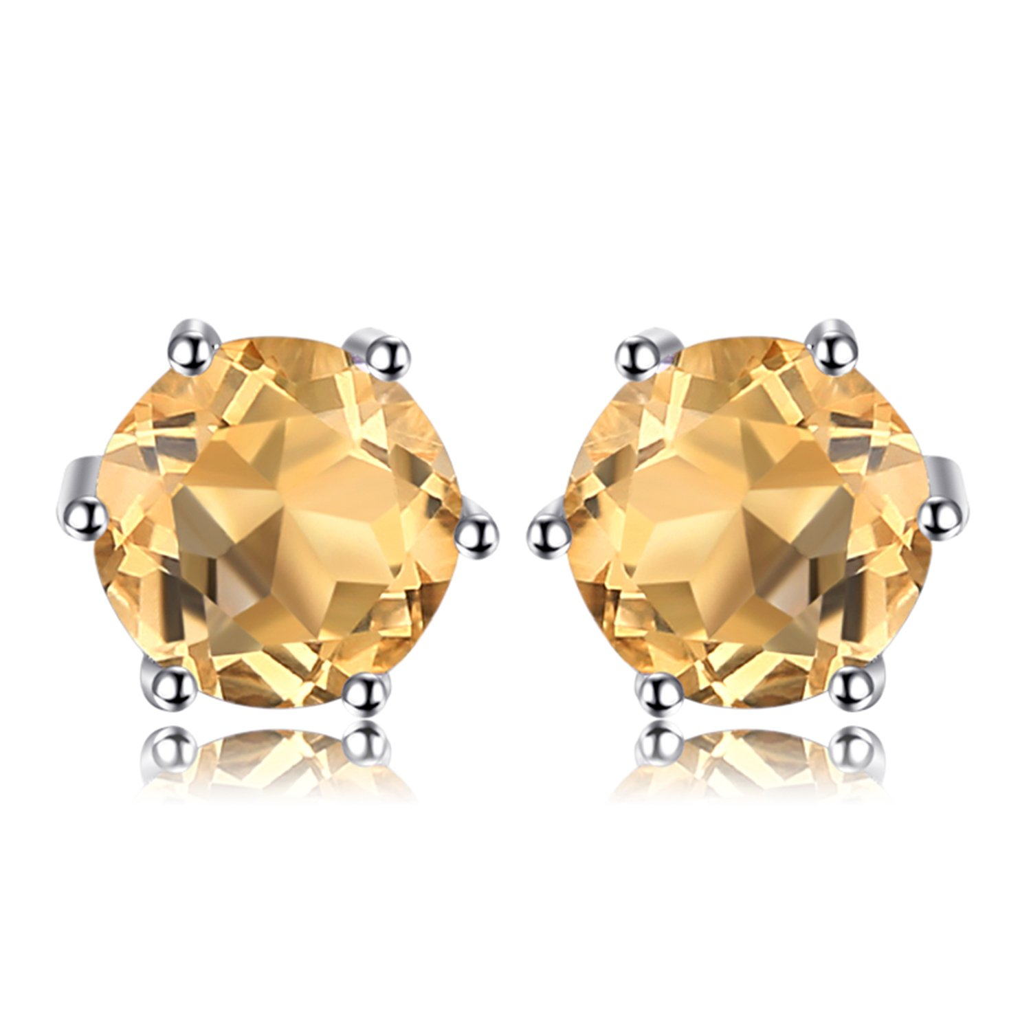 Jewelrypalace Natural Amethyst Citrine Garnet Peridot Topaz 925 Sterling Silver Stud Earrings CA-JE553401