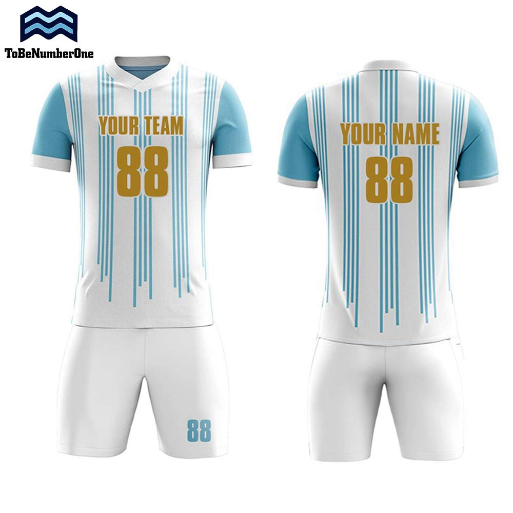 173ba7d720d Amazon.com: Sublimation Soccer Jersey Set Custom 2018-2019 Argentina Home  Concept Football Shirt: Clothing