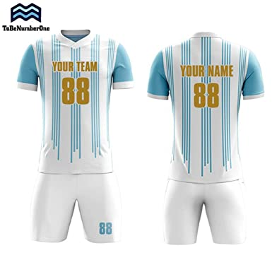 93baa502 Amazon.com: Sublimation Soccer Jersey Set Custom 2018-2019 Argentina Home  Concept Football Shirt: Clothing