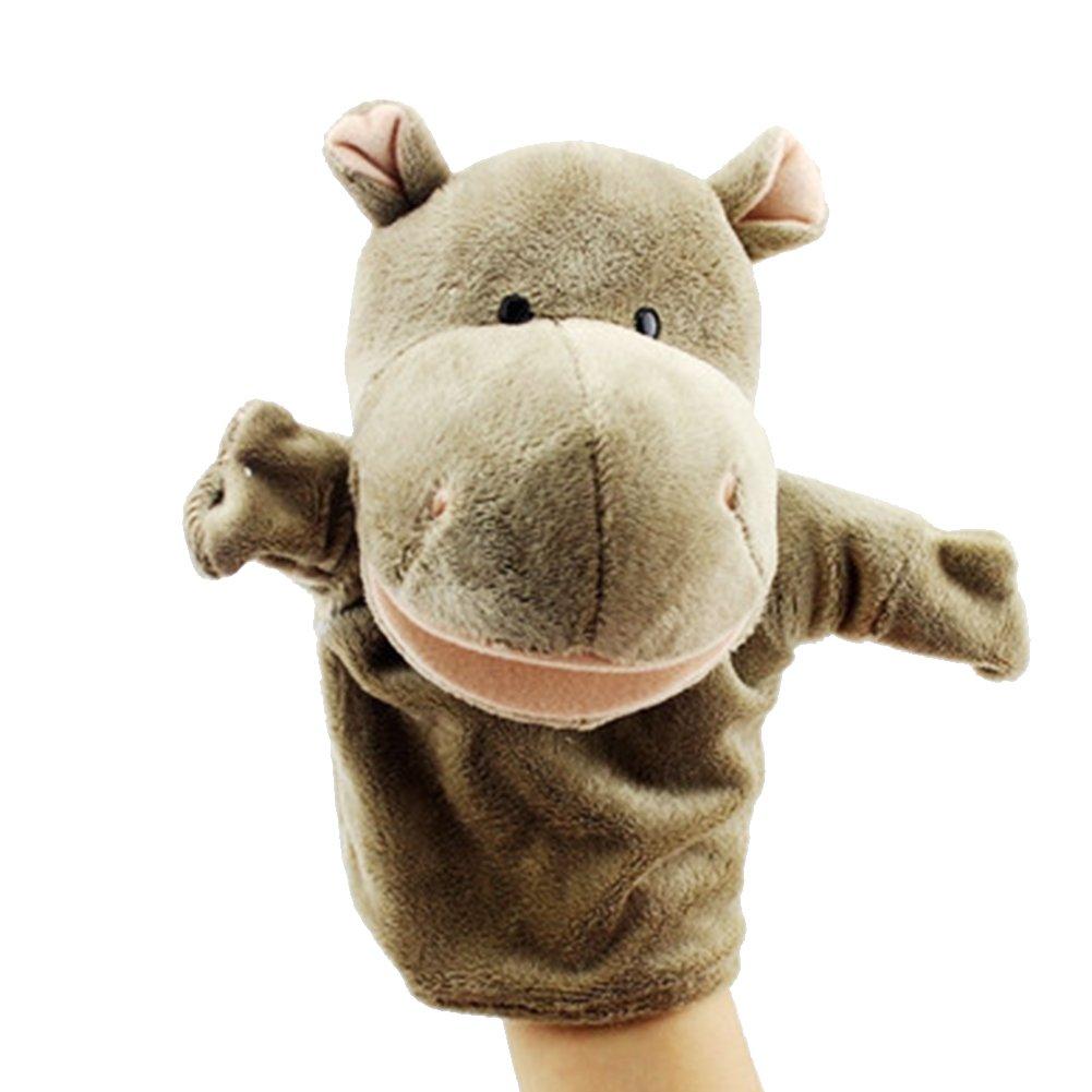Naisidier burattini da Mano Bambini Genitore-Bambino Mano Puppet Morbido Giocattoli di Peluche burattini a Dito Hippo