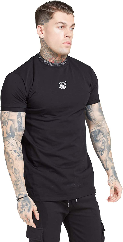 Camiseta Siksilk 15721 Tape Collar Cuff tee Black SS15721 Sik Silk