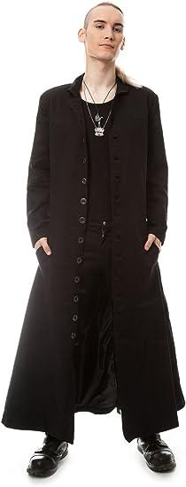 TALLA S. Poizen Industries Neo Coat Abrigo Negro