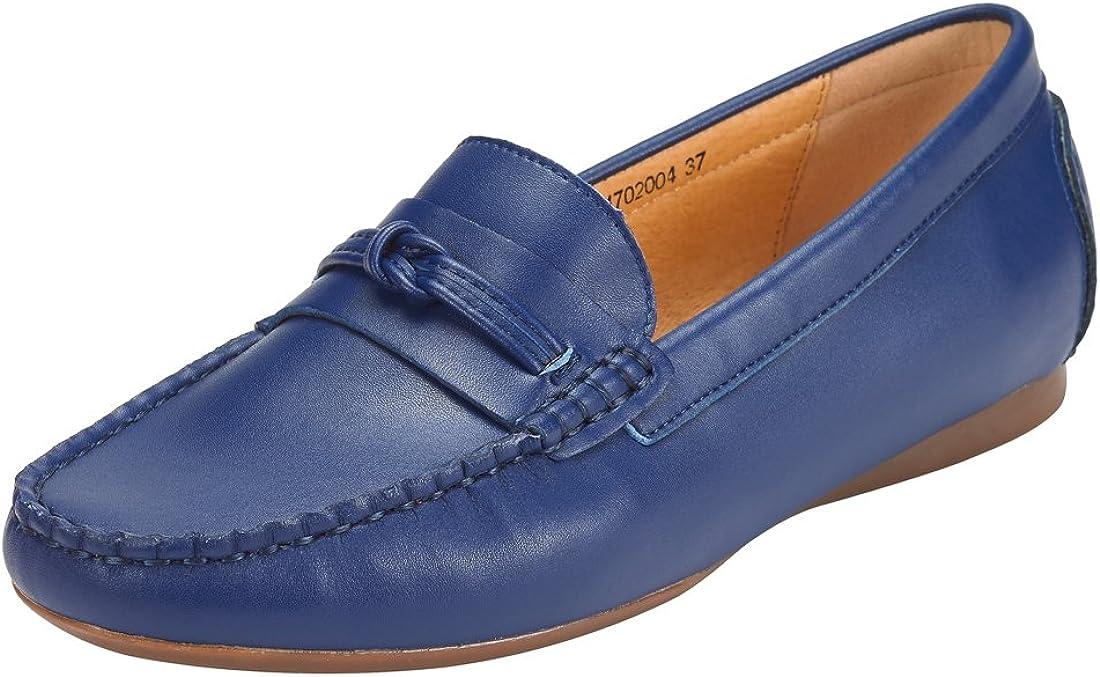 JENN ARDOR Penny Loafers for Women: Vegan Leather Slip-On Comfortable Driving Moccasins Flats