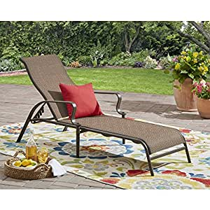 Amazon Com Mainstay Wesley Creek Outdoor Sling Chaise