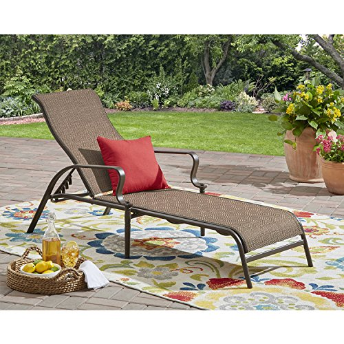 Basketweave Patio Chair (Mainstays Wesley Creek Outdoor Sling Chaise Lounge)