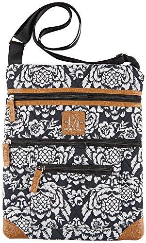 stone-mountain-lockport-batik-quilted-handbag-one-size-black-white
