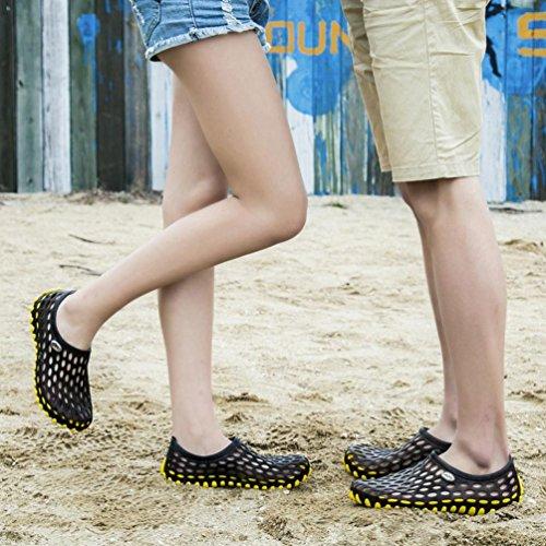 Bescita unisex sandali Slipper rapida asciugatura scarpe Yellow Beach per traspirante qBqgZ