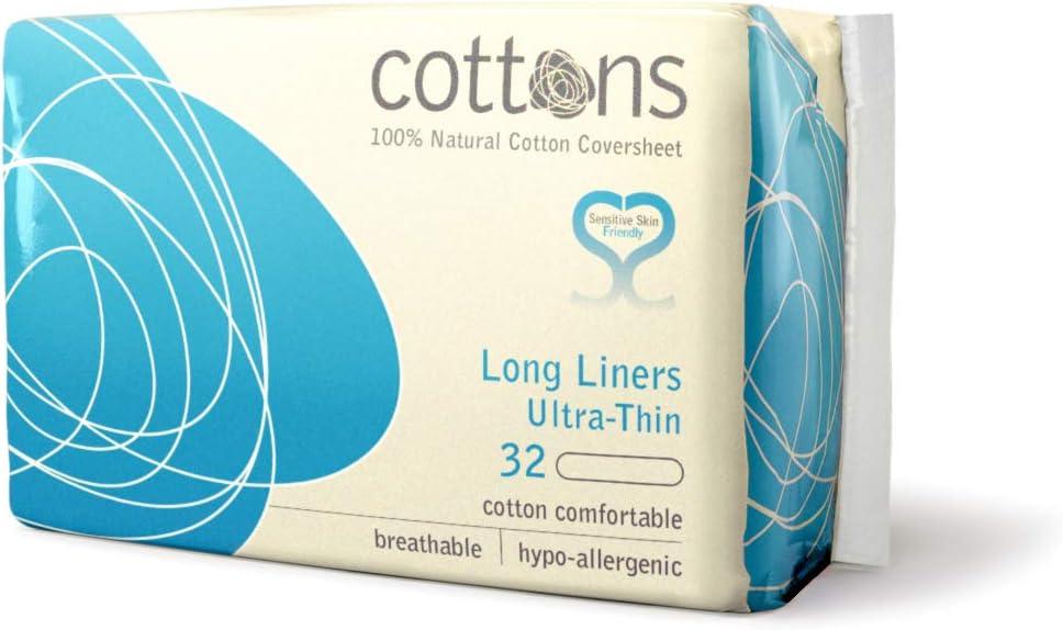 Cottons Extra Largo Salvaslip Algodón 100% - 32 Unidades: Amazon.es: Salud y cuidado personal