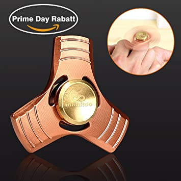 infinitoo fidget toy spinner / hand spinner / red copper