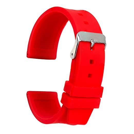 55c71d86a8cf Ullchro Correa Reloj Calidad Alta Recambios Correa Relojes Caucho Suave  Flexible Hombre Mujer - 16