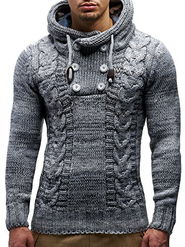 Large NelsonGilet Leif Col Tricot Ln20227 Gris YyvI7g6bf