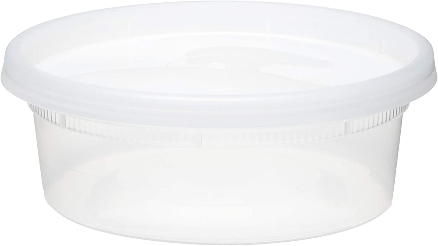 Soup Containers with Lids, Plastic Containers with Lids for Soup/Food Storage, Perfect Containers for Food Storage, Microwave Safe Food Containers with Lids (240 Pcs, with Lid, 8 Oz)