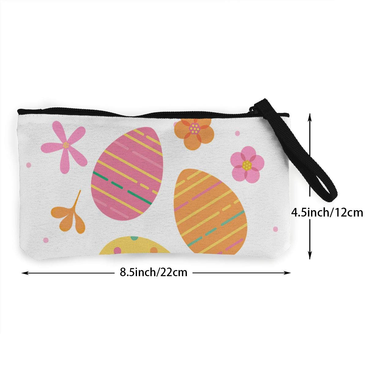 Maple Memories Easter Eggs Portable Canvas Coin Purse Change Purse Pouch Mini Wallet Gifts For Women Girls