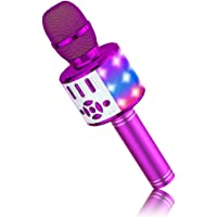 BONAOK Magic Sing Karaoke microfoon, Bluetooth microfoon karaoke kinderen, 4-in-1 sing microfoon, draadloze Bluetooth…