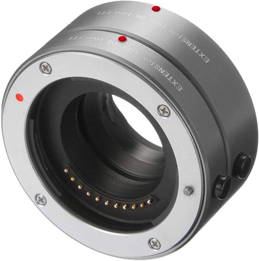 Grey FOTGA Metal Auto Focus Macro Extension Tube 10mm+16mm Set for Micro Four Thirds MFT M4//3 Mount GH1//2//3 GH4 GH5 GH5s E-PM1 E-PM2 E-PL1//2//3 E-M10 II III E-PL7//8//9 Pen-F Cameras