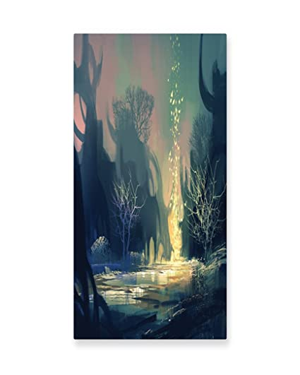 Amazon.com: Lunarable Fantasy Wall Art, Mysterious Tree Roots in a ...