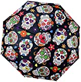 Day of the Dead Telescopic Umbrella w/ Cover - 38''
