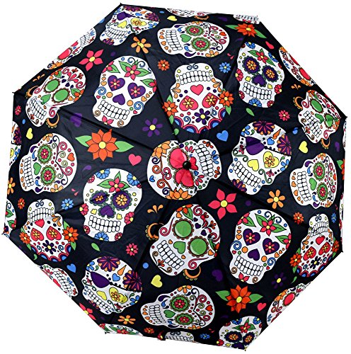 Day of the Dead Telescopic Umbrella w/ Cover