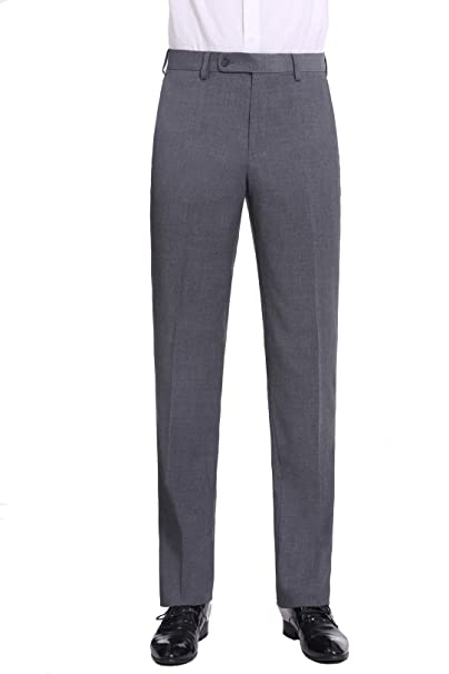 Amazon.com: P&L Premium Classic Fit pantalones de traje ...