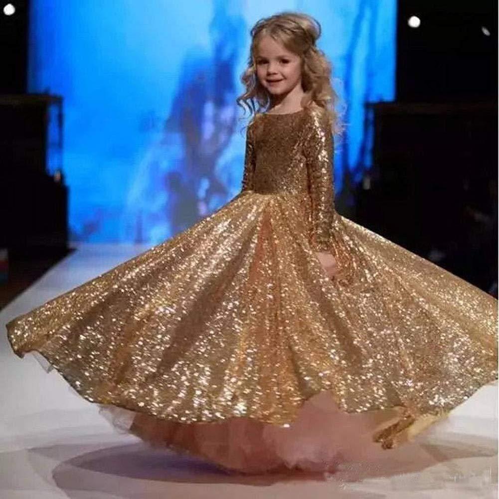 YARUDRESS Bambina Principessa Vestito Cerimonia Paillettes