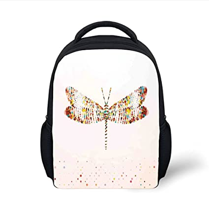 196c2ae4ae04 Amazon.com: iPrint Kids School Backpack Dragonfly,Majestic Dragonfly ...