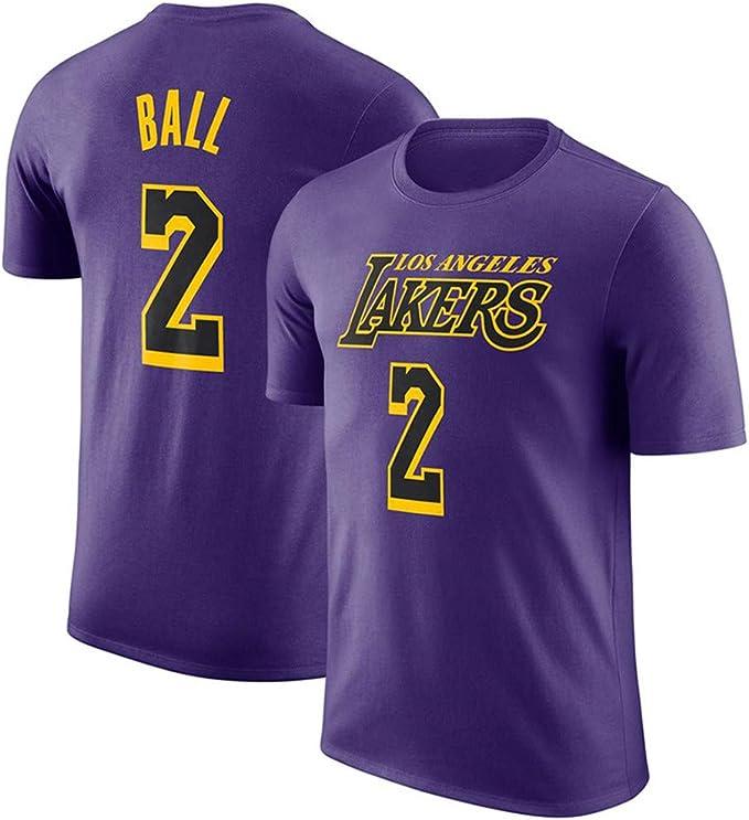 WYNBB Camiseta de Manga Corta Los Angeles Lakers No.8 Bryant No.2 ...