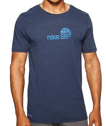 Nike SB Dry Tee SB Dri-Blend Fish Obsidian Heather/Industrial Blue Men's T