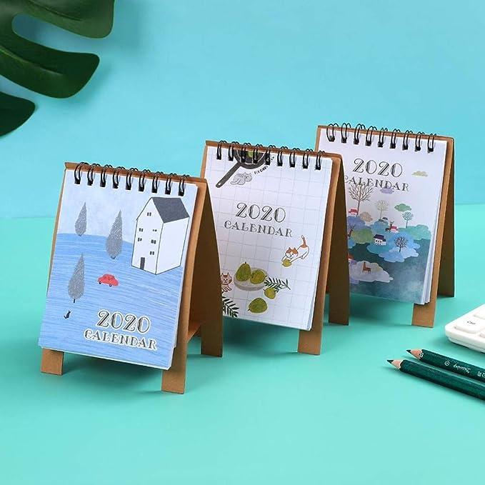 Calendario Calendarios de Escritorio Calendarios d 2020 lindo Mini ...