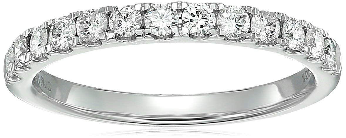 Vir Jewels 1/2 ctw Prong Set Diamond Wedding Band in 14k White Gold in Size 6.5 by Vir Jewels