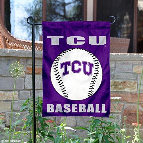 Texas Christian Horned Frogs Baseball Garden Flag and Yard Banner (Texas Christian Horned Frogs Baseball)