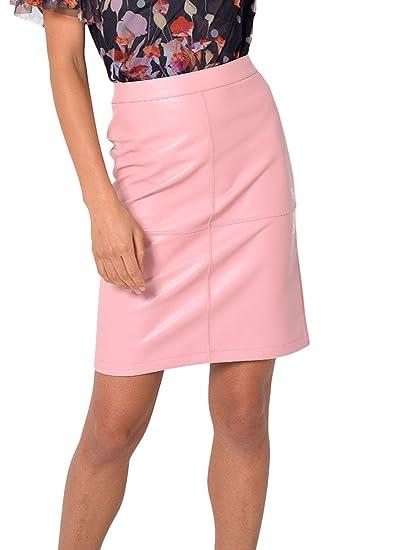 Only Falda Lisa Rosa 42 Rosa: Amazon.es: Ropa y accesorios
