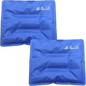 Pain Relief Flexible Ice Pack for Injuries Hot Cold Therapy Reusable Gel Pack/Heat Wrap - Great for Back, Waist, Shoulder, Neck, Ankle, Knee and Hip (2 Pack) (Ice Pack (2 Pack))