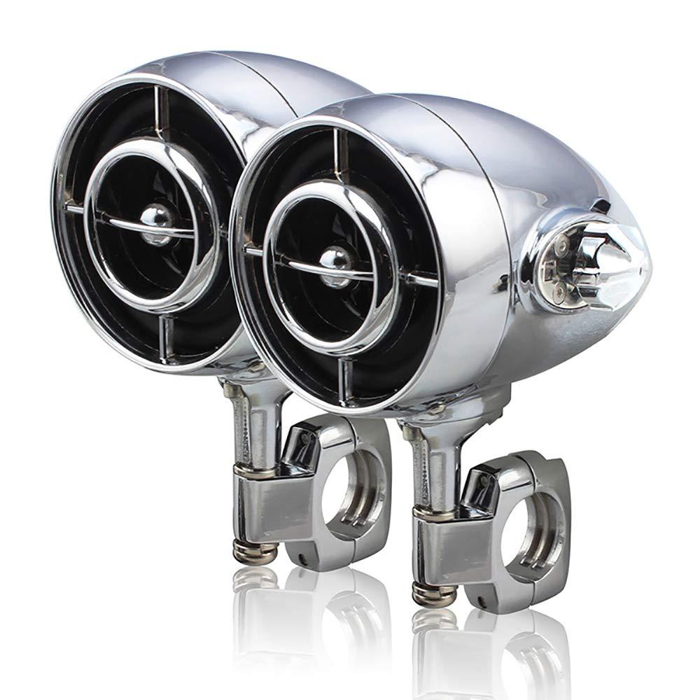 オートバイのMP3ブルートゥーススピーカー オールメタルハンドルバーUSB 防水スピーカーラジオ ハーレー大変位用 B07QLDR8WL